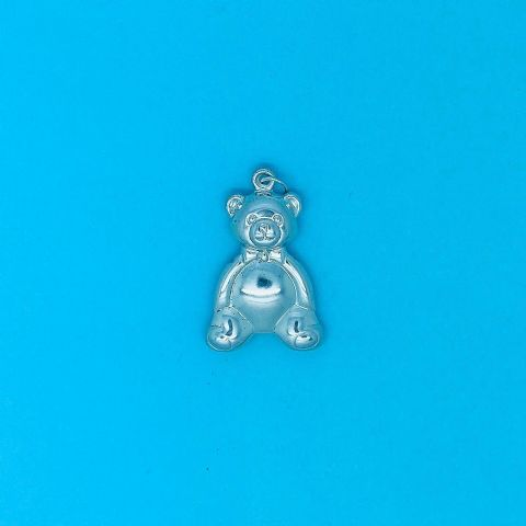 Genuine 925 Sterling Silver Large Teddy Bear Pendant